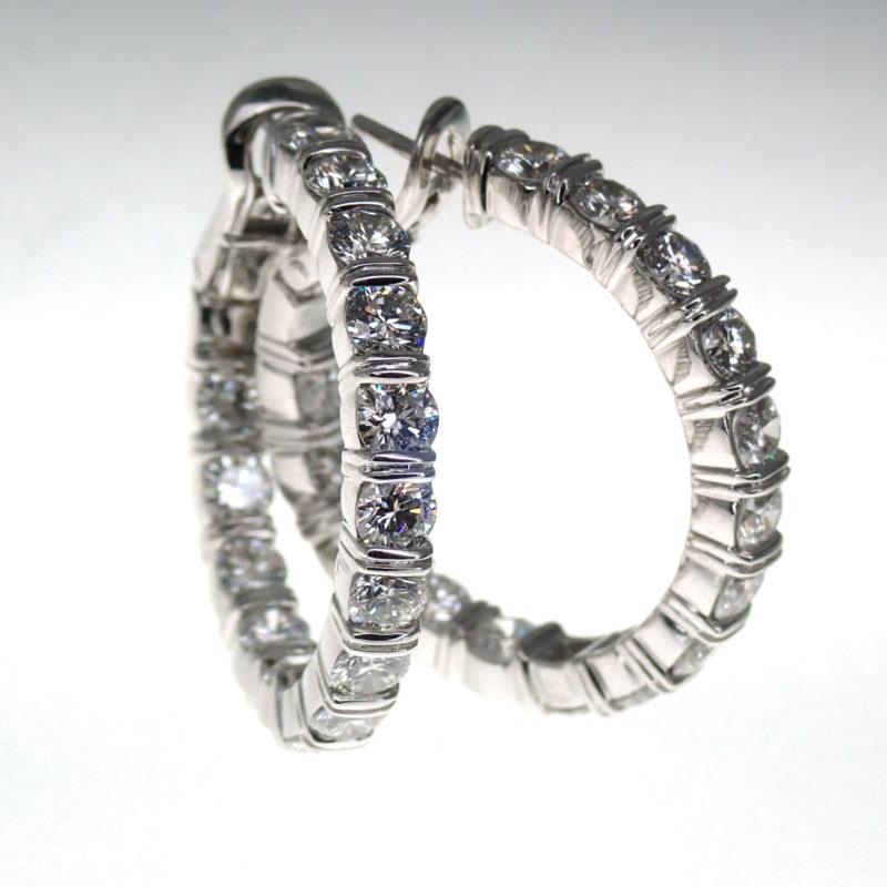 ハリーウィンストン ダイヤモンド フープピアス 4.35ct 参考定価 5,032,800円