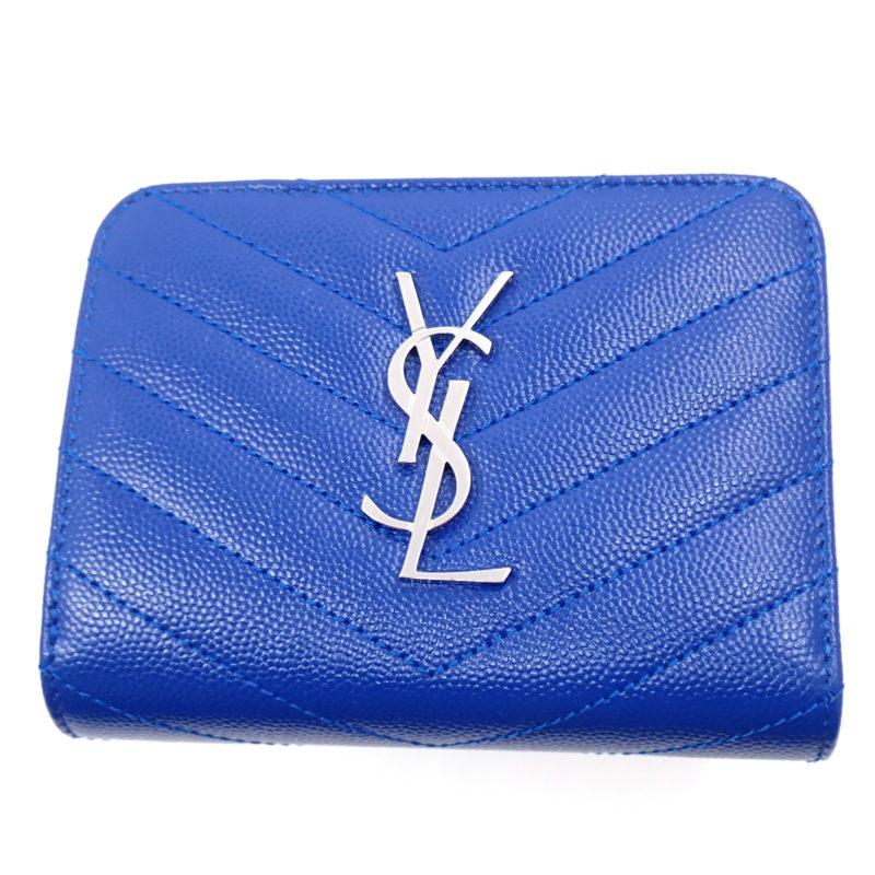二つ折り財布 ブルー 未使用品 403723 BOW02